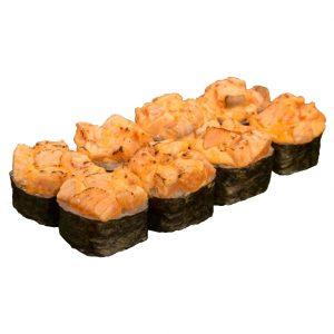 Запеченный острый с лососем